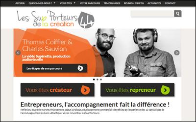 Site les Sup'Porteurs de la création 44